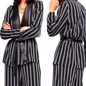 Zara Basic Striped Kimono Jacket